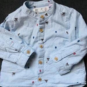 Zara Baby Pine Tree Shirt 3/6 M